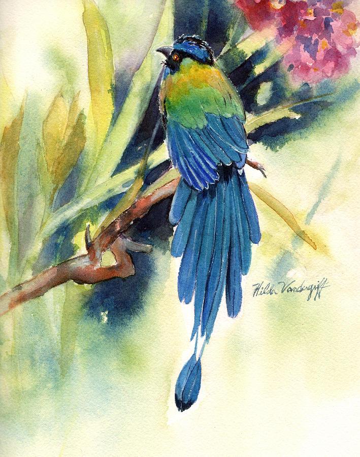 Bird Painting - Bird Of Paradise by Hilda Vandergriff