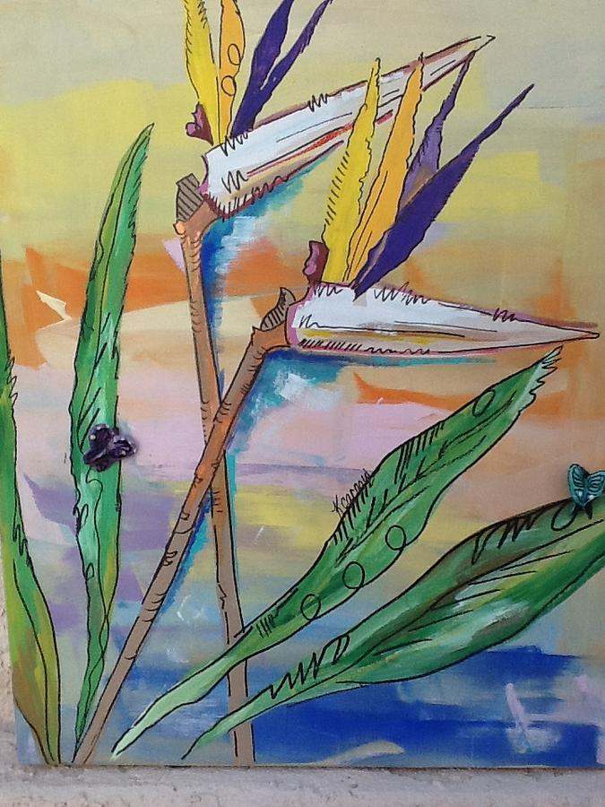 Bird Mixed Media - Bird Of Paradise by Karen Carnow