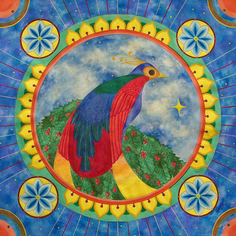 Mandala Painting - Bird Of Paradise Mandala by Vlatka Kelc