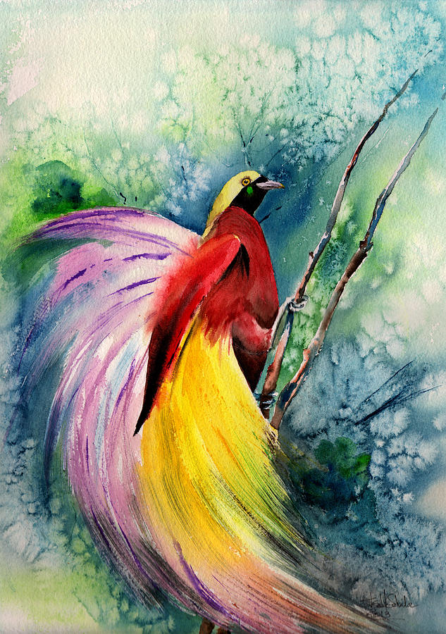 Bird Of Paradise New-guinea Painting by Isabel Salvador