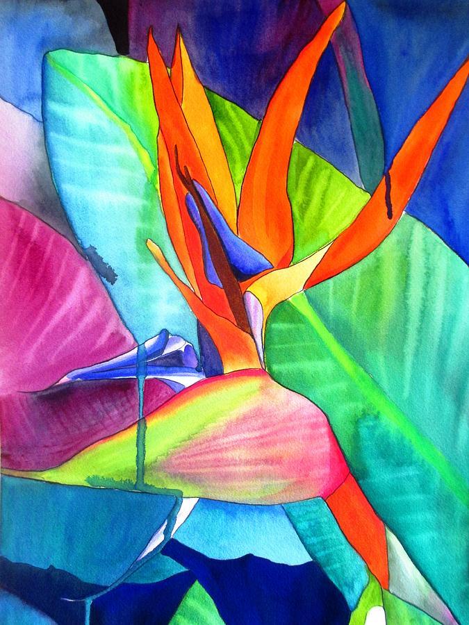 Strelitzia Painting - Bird of Paradise Strelitzia by Sacha Grossel