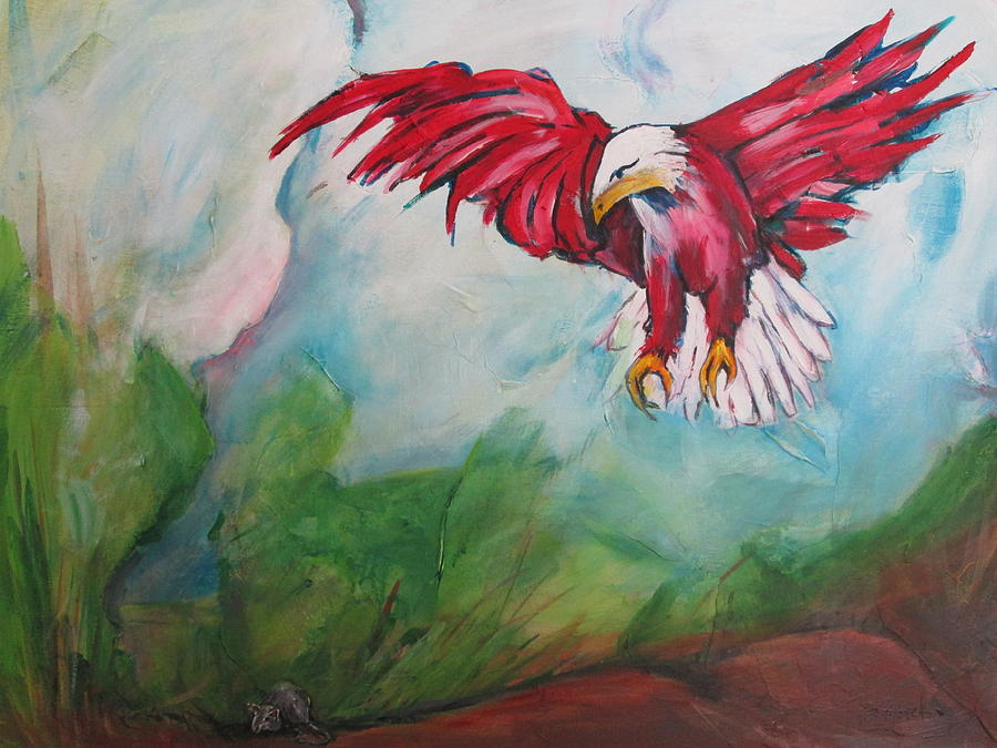 Birds Painting - Bird Of Prey by Paul Kilyanek