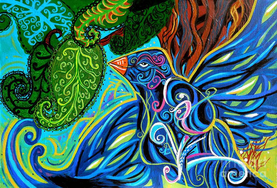Bird Painting - Bird Song by Genevieve Esson
