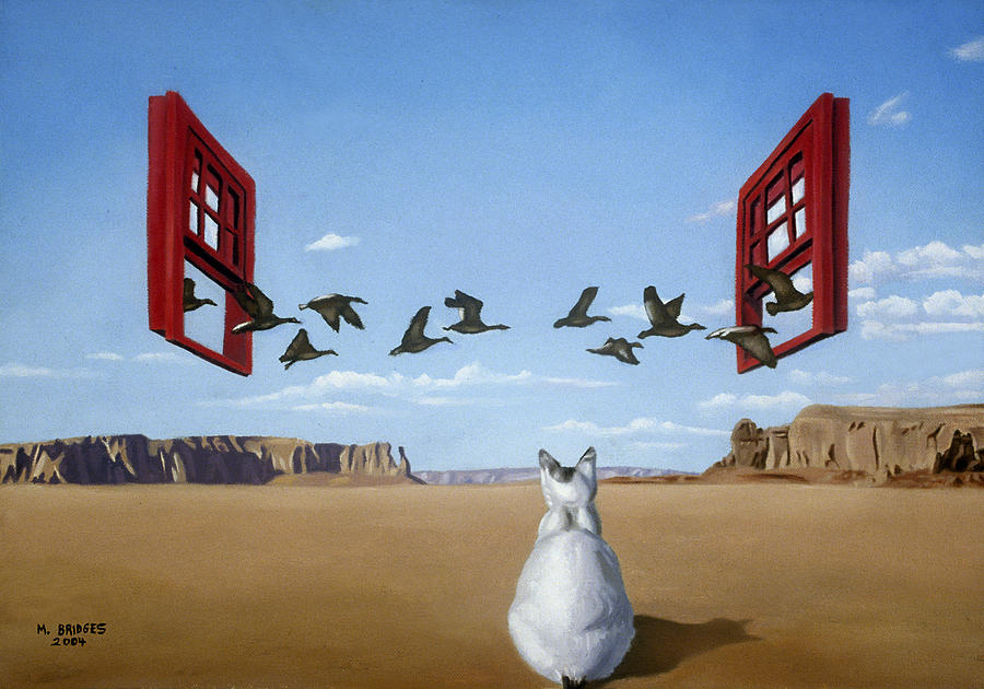 Bird Painting - Bird Watcher by Michael Bridges