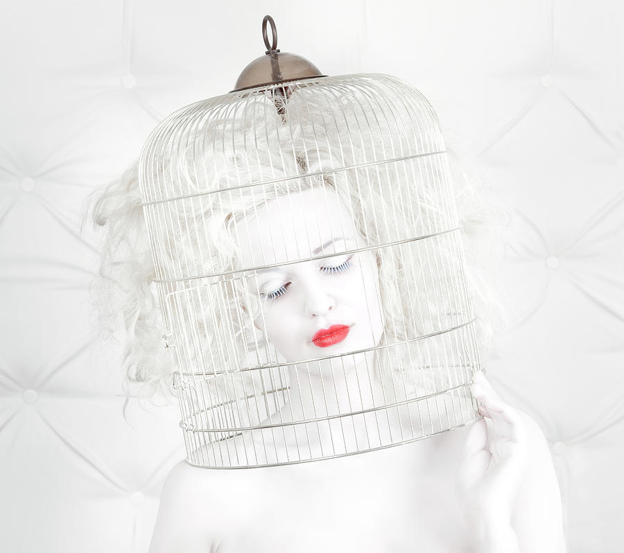 Fashion Photograph - Birdcage Love by John Andre Aasen