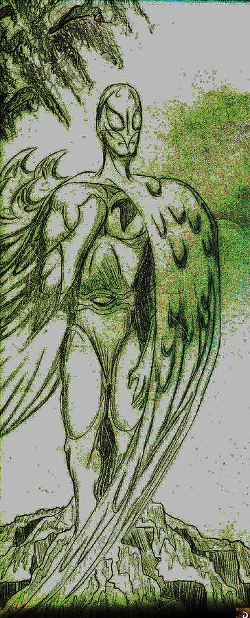 Marvel Drawing - Birdman by Jazzboy
