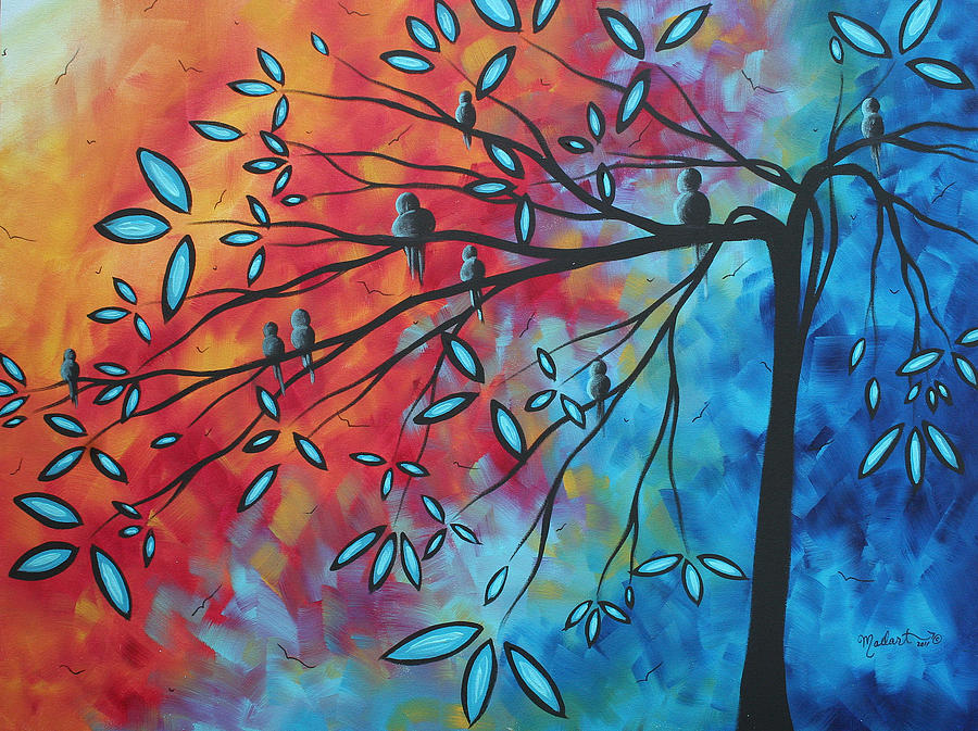 Artwork Painting - Birds And Blossoms By Madart by Megan Duncanson