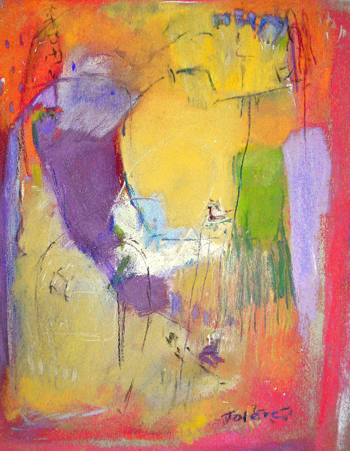 Whimsical Painting - Birds Eye View  Abstract by Studio Tolere