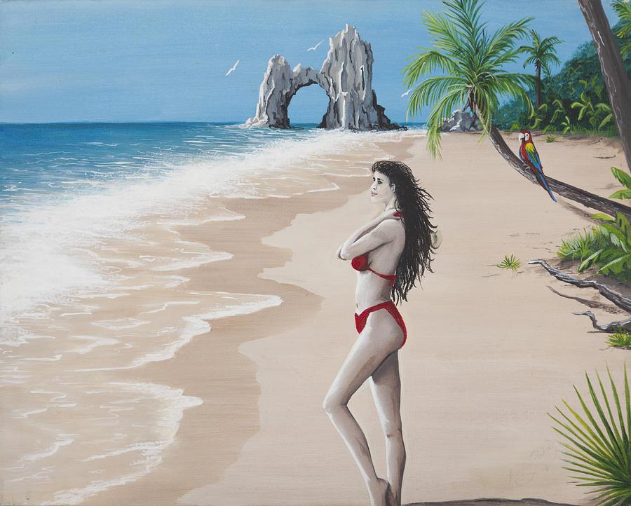 Tropical Painting - Birds Eye View by Nickie Bradley