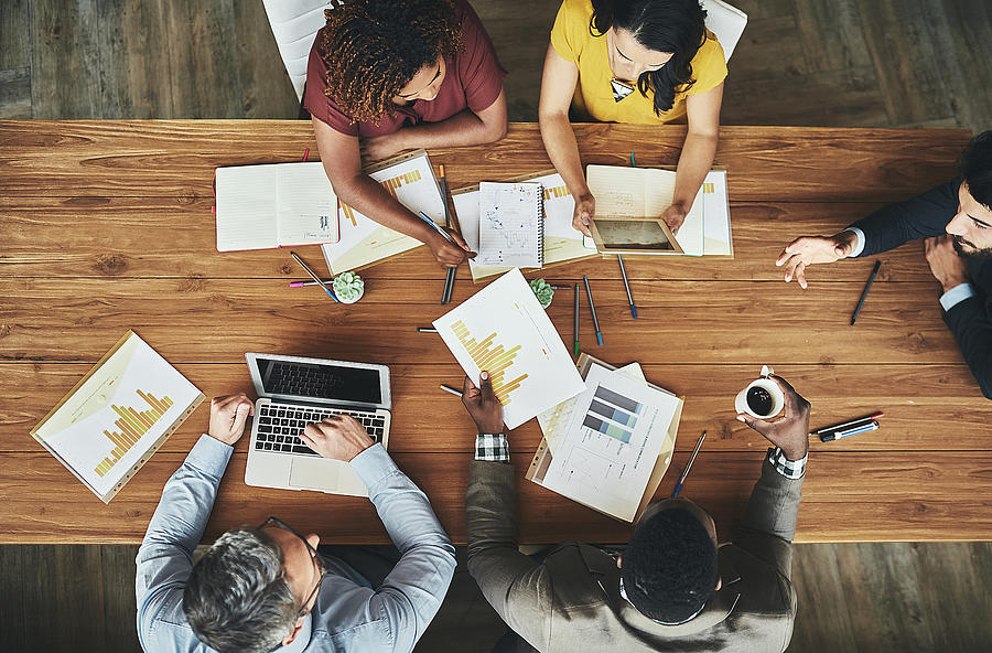 Birds-eye view of business Photograph by PeopleImages