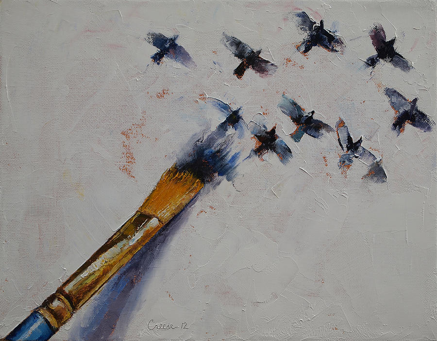 Bird Painting - Birds by Michael Creese