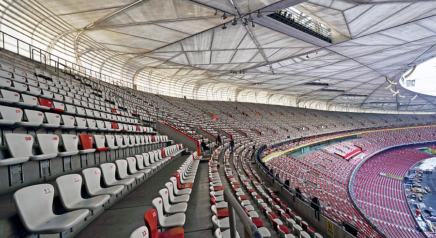Birds nest stadium seating olympic park beijing china for The bird s nest stadium