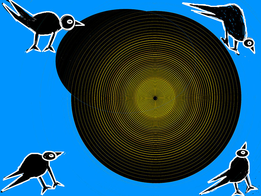 Peacocks Digital Art - Birds New World by Anand Swaroop Manchiraju