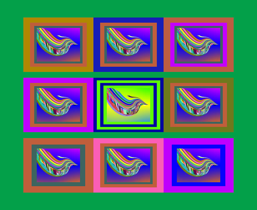 Birds Digital Art - Birds of a Feather with SBUX by Stephen Coenen