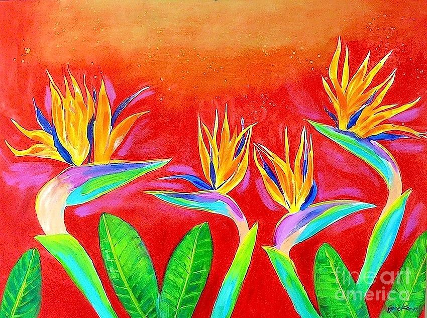 Flowers Painting - Birds Of Paradise by Jane Kempe