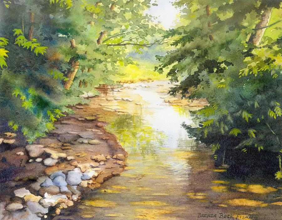 Creek Painting - Birds Trail Creek by Brenda Beck Fisher