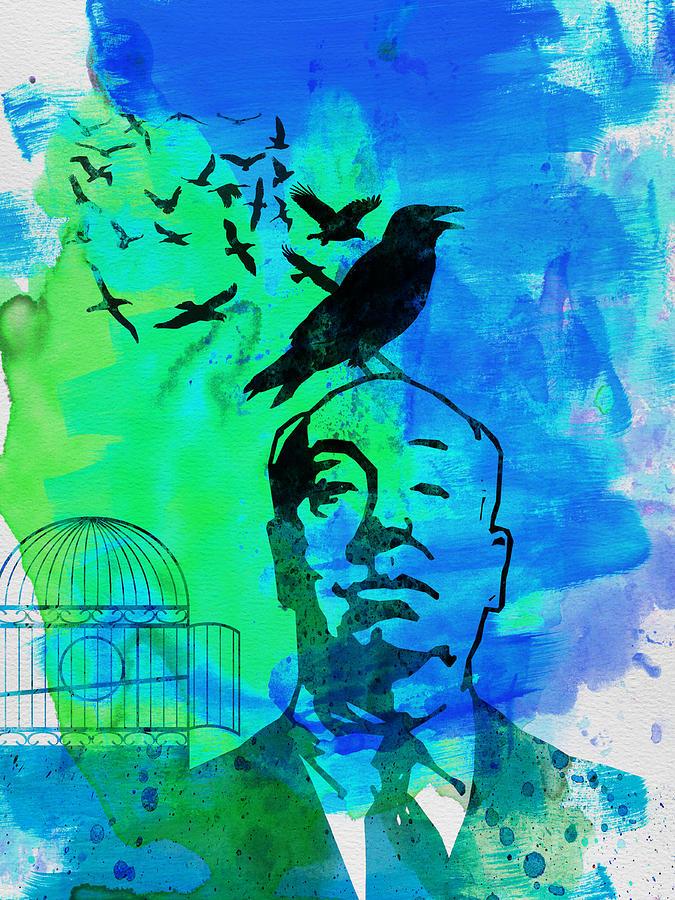 Birds Painting - Birds Watercolor by Naxart Studio