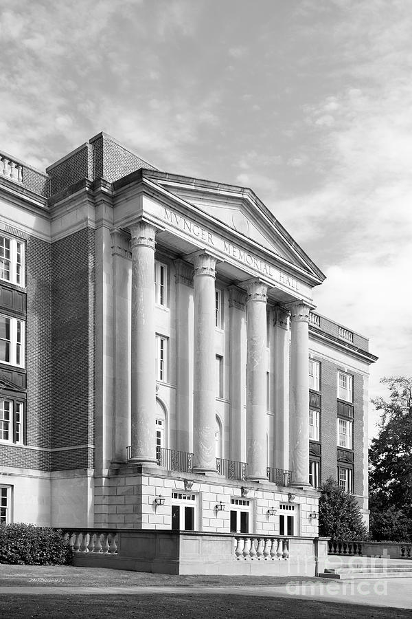 Alabama Photograph - Birmingham- Southern College Munger Memorial Hall by University Icons