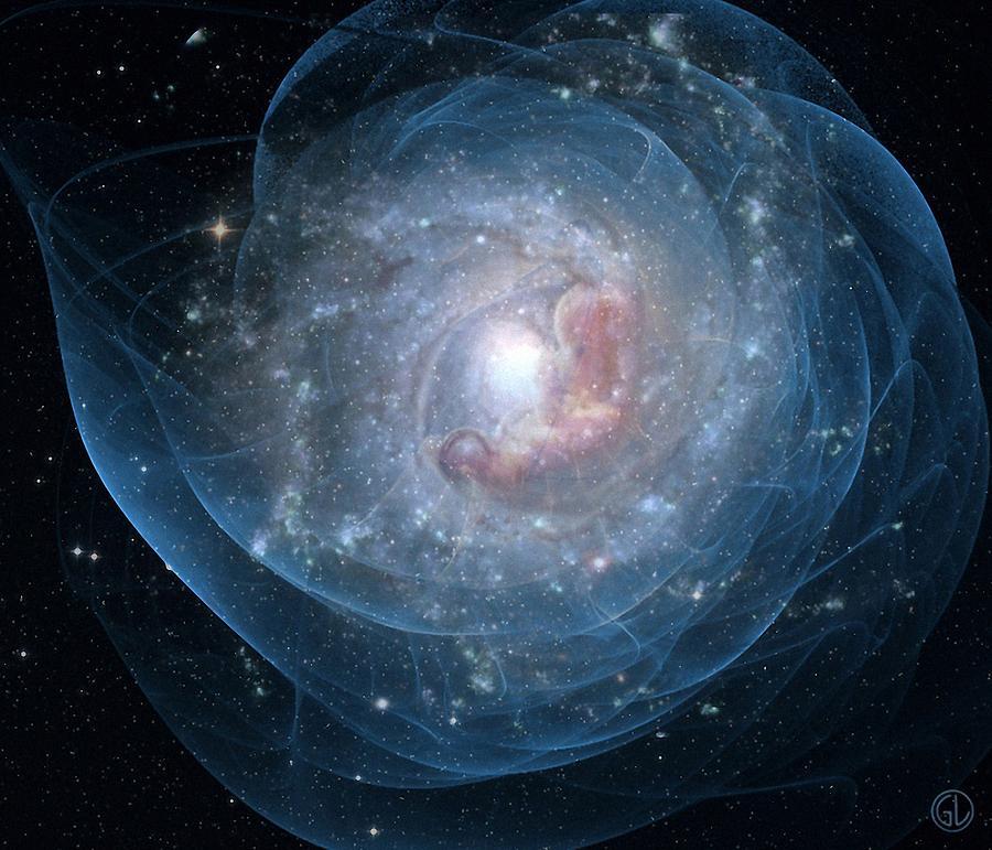Space Digital Art - Birth Of A Galaxy by Gun Legler