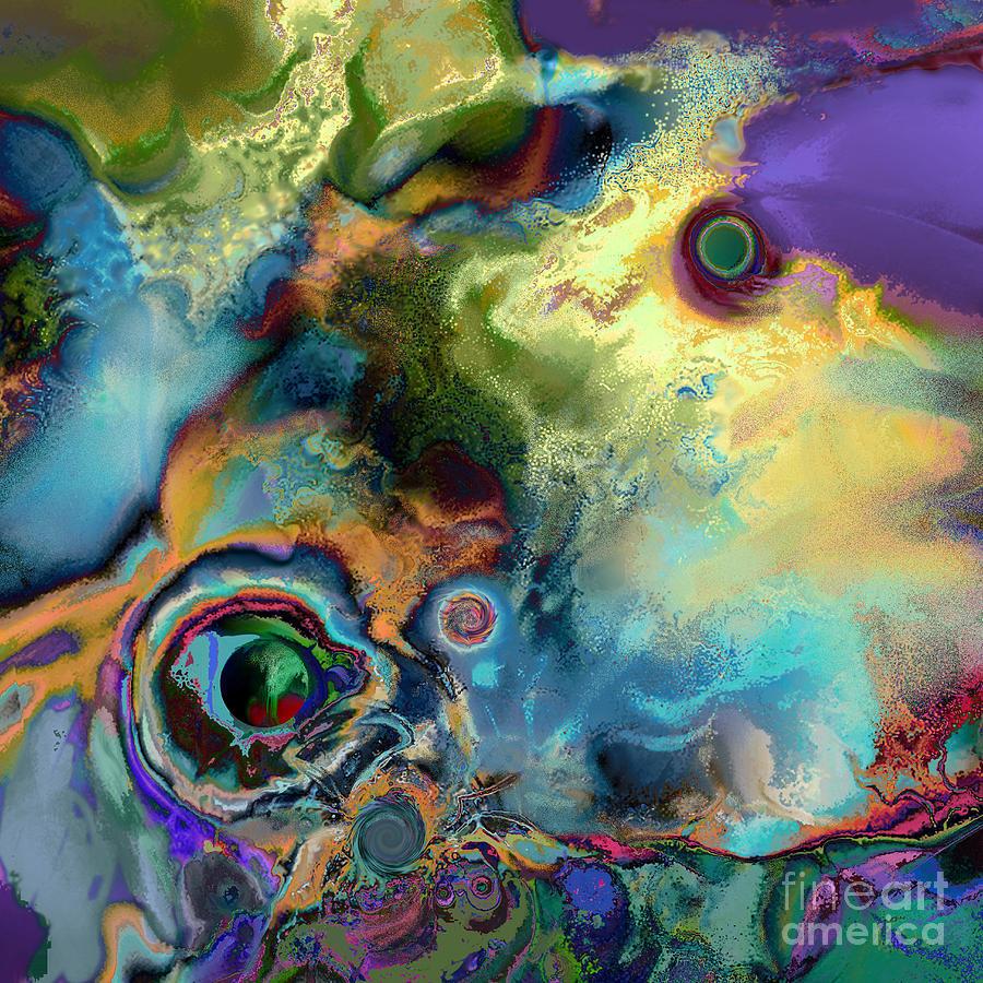Ursula Freer Digital Art - Birth Of A Star by Ursula Freer