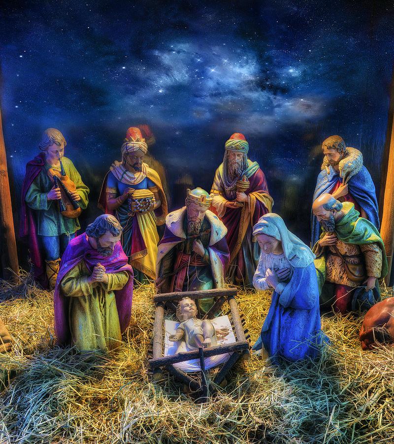 Jesus Photograph - Birth Of Jesus by Ian Mitchell