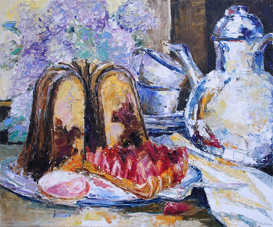 Still Life Painting - Birthday by Barbara Pommerenke