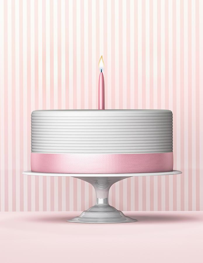 Birthday Cake Photograph by Burazin