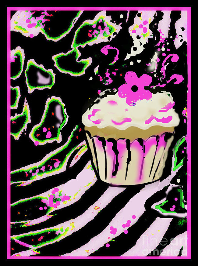 Birthday Cupcake Mixed Media by Wendy Wiese