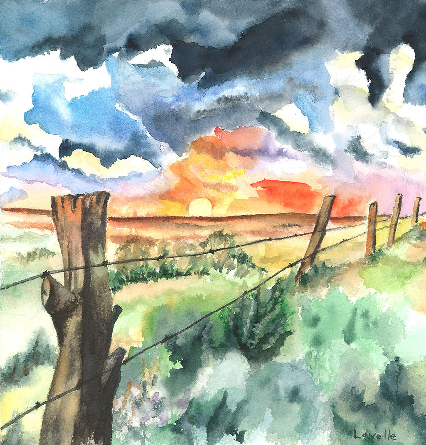 Landscape Painting - Birthday Sunrise by Kimberly Lavelle