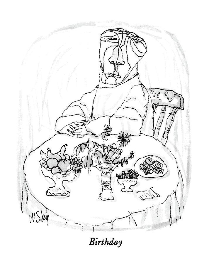 March 3rd Drawing - Birthday by William Steig