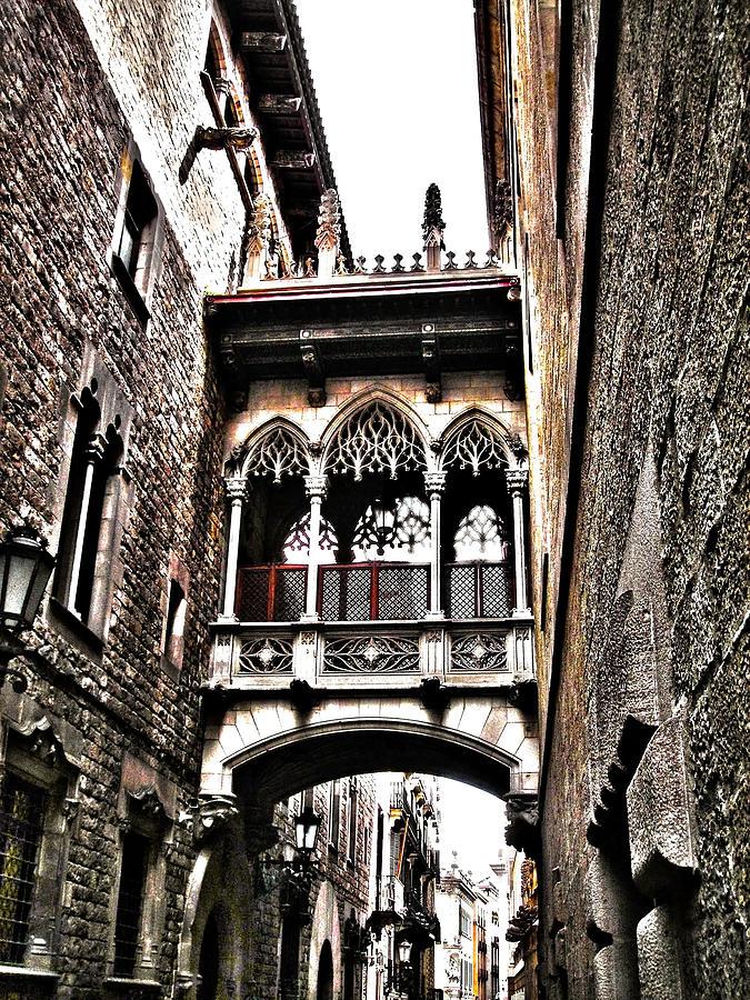 Europa Photograph - Bishops Street - Barcelona by Juergen Weiss