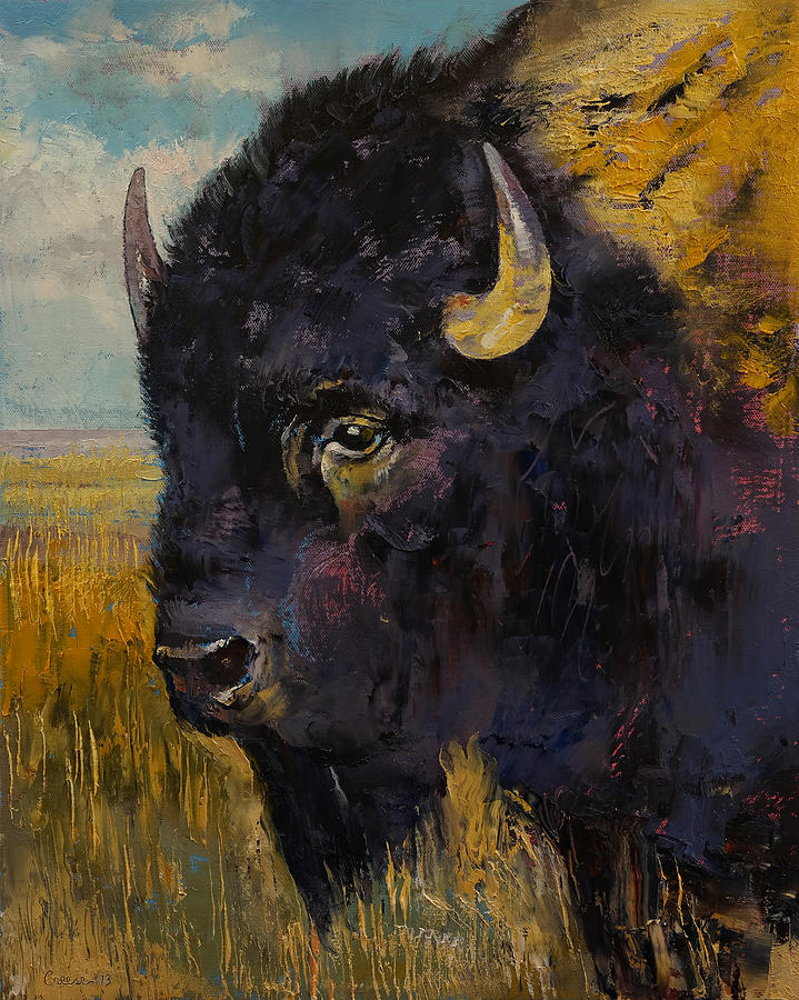 Earth Painting - Bison by Michael Creese