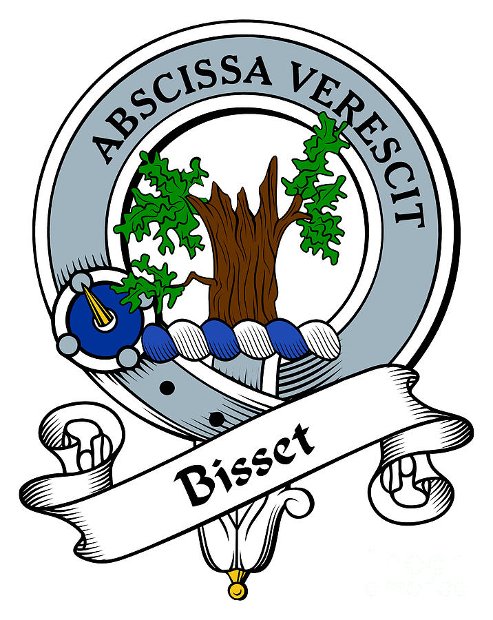 Clan Drawing - Bisset Clan Badge by Heraldry