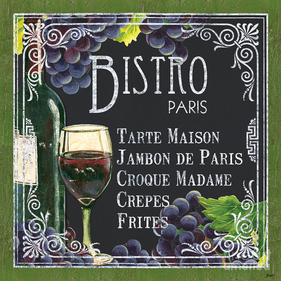 Bistro Painting - Bistro Paris by Debbie DeWitt