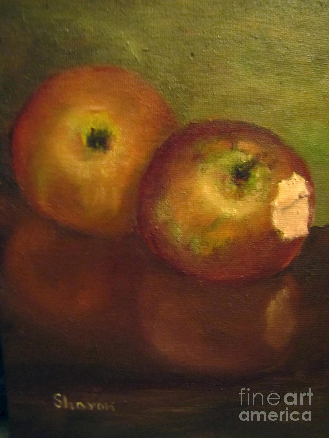 Apples Painting - Bite Me by Sharon Burger