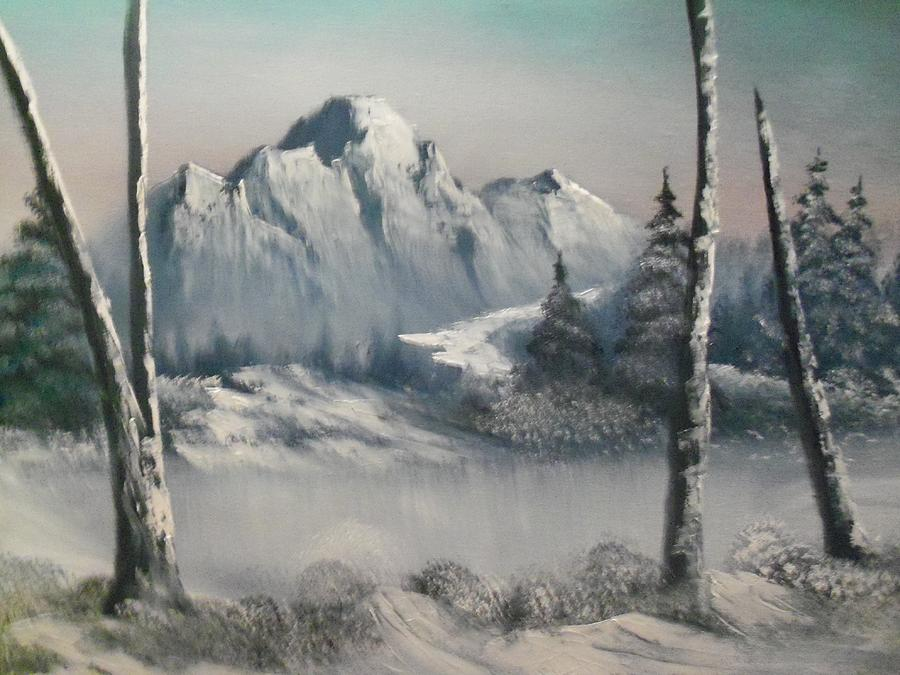Mountains Painting - Bitter Cold by Ricky Haug