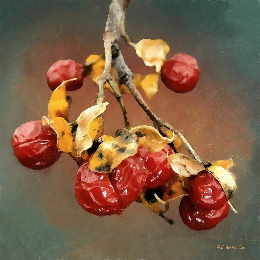 Berries Painting - Bittersweet Memories by RC DeWinter