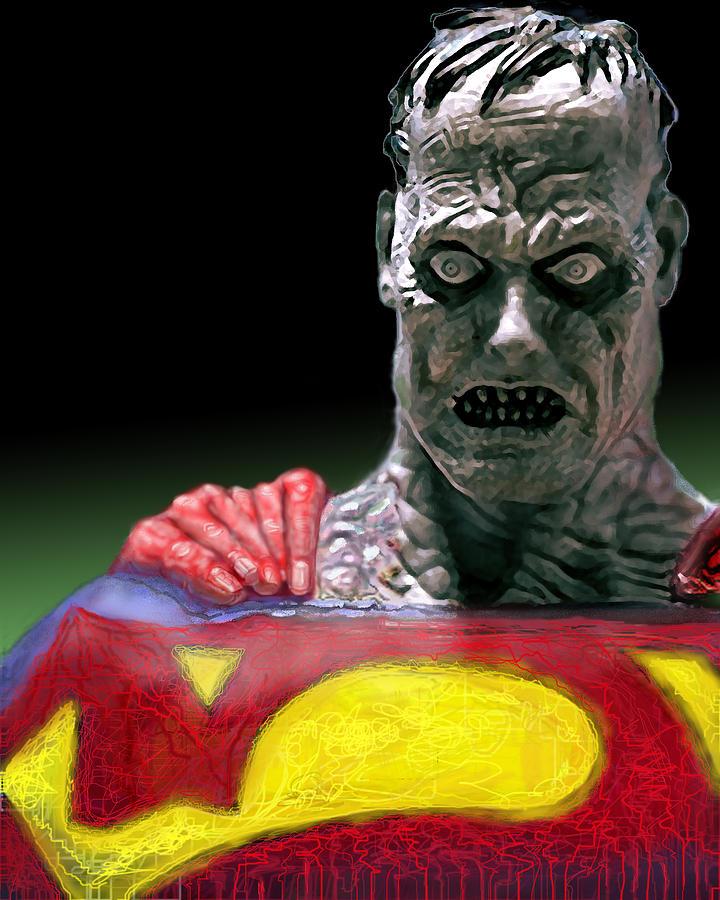 Superman Digital Art - Bizarro by Gabe Arroyo