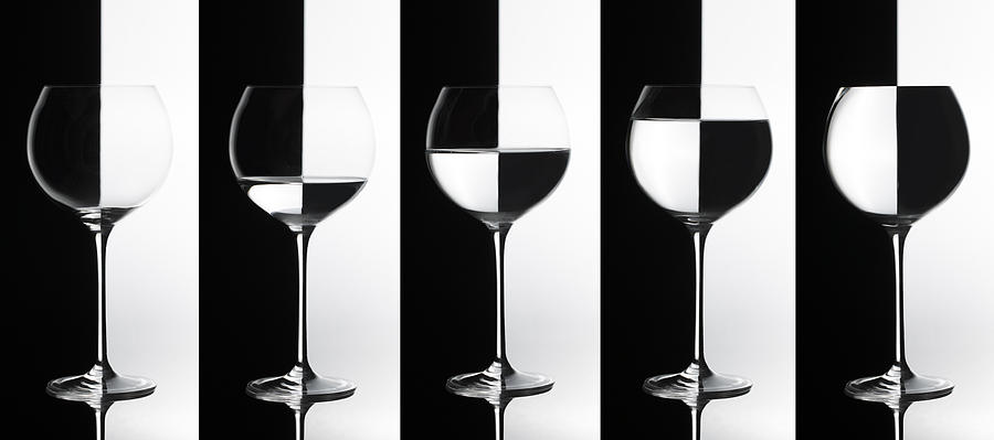 Glass Photograph - Black & White by Doris Reindl