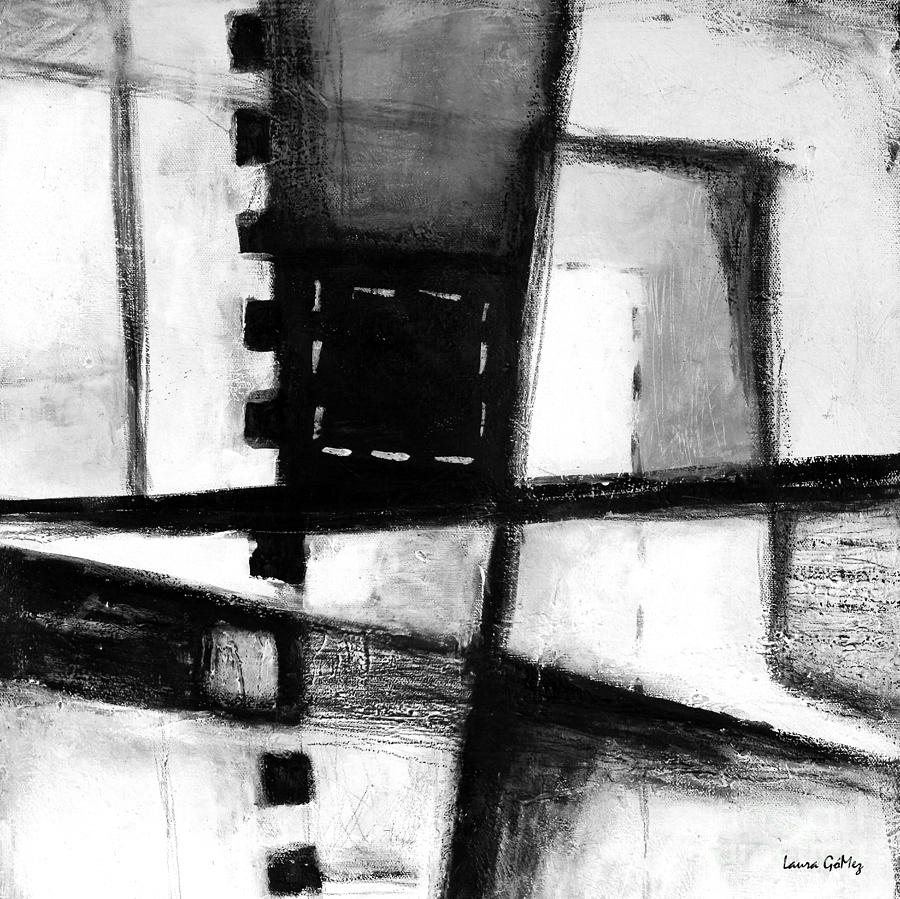 Black and white abstract contemporary minimal art by laura for Minimal art video