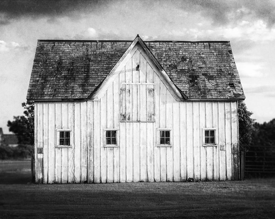 Black And White Barn Landscape Photograph By Lisa Russo