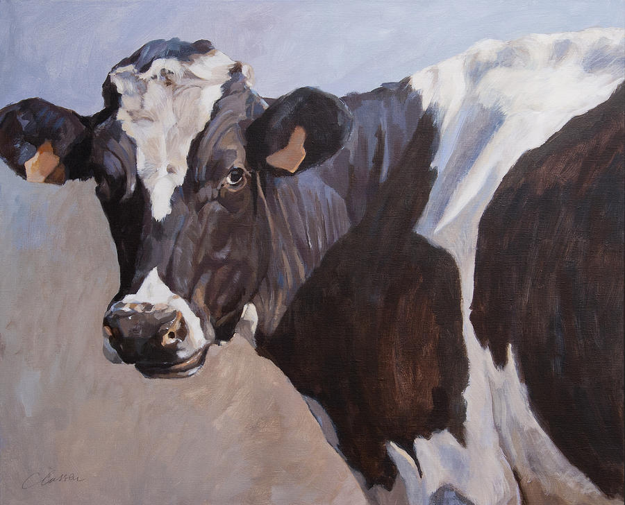 Black And White Beauty Painting by Anke Classen