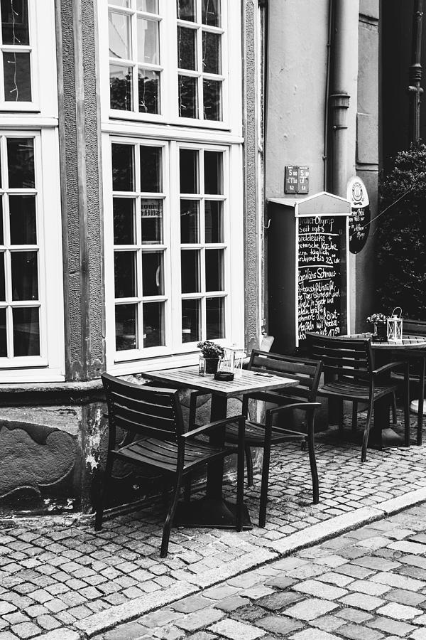 Black And White Photograph - Black And White Cafe by Pati Photography