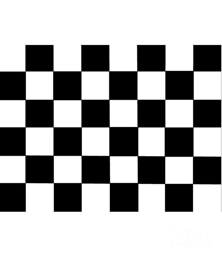Black Digital Art - Black And White Checkered Flag by Frederick Holiday