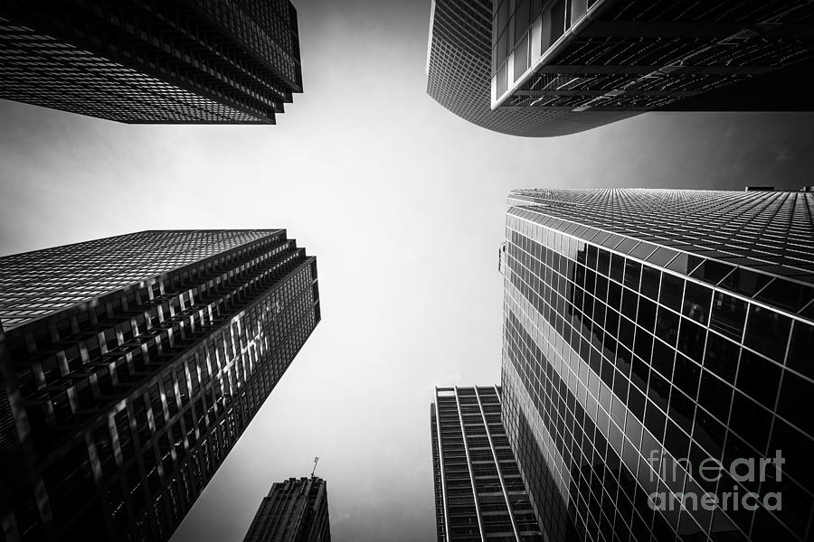 America photograph black and white chicago skyscraper buildings by paul velgos