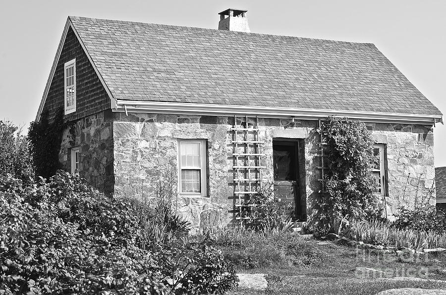 Black And White Cottage Photograph