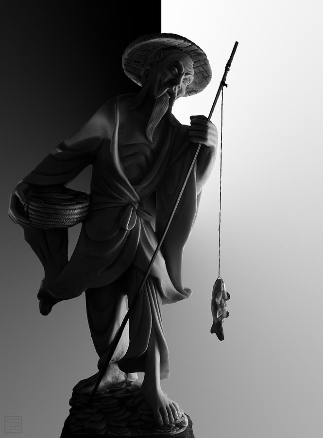 Black And White Photograph - Black And White Ivory Fisherman by Sean Kirkpatrick
