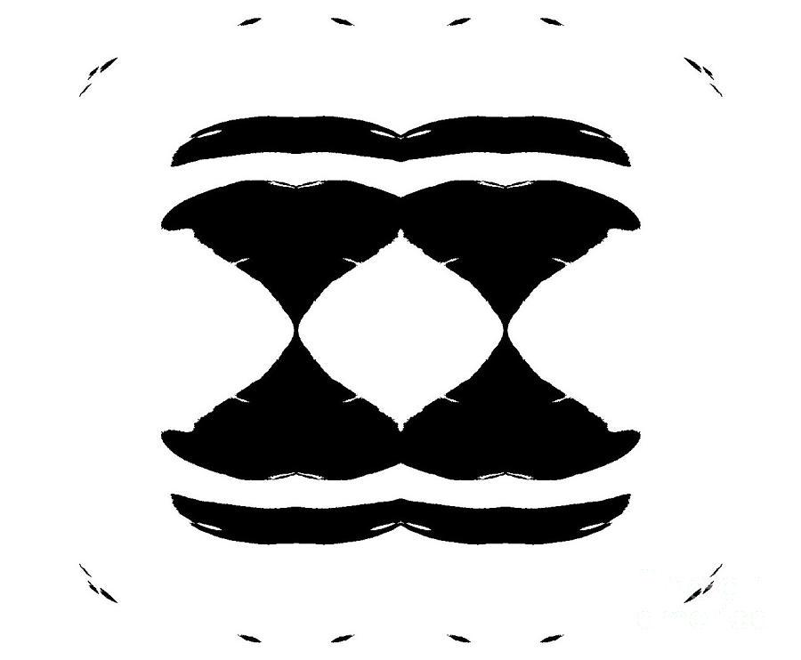 Black and white minimalist art digital art by for Minimal art black and white