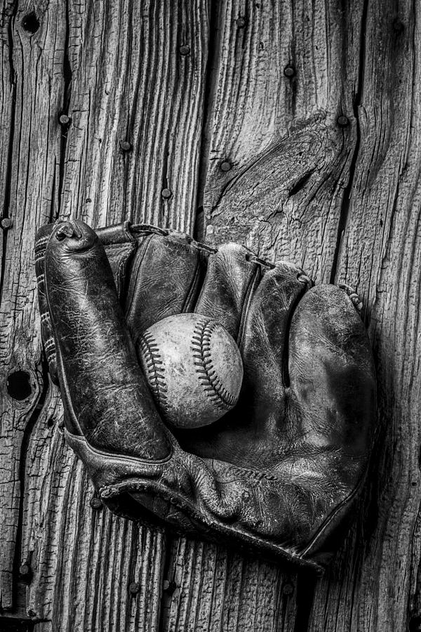 Black Photograph - Black And White Mitt by Garry Gay
