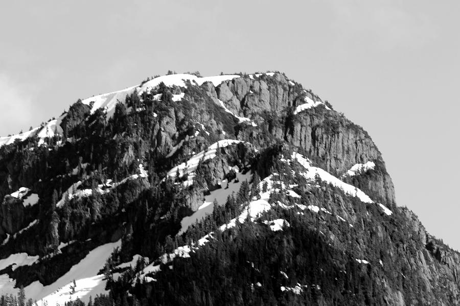 Mountain Range Photograph - Black And White Mountain Range 4 by Diane Rada